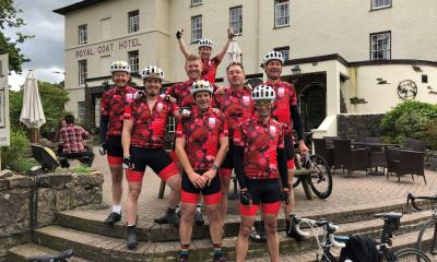 MHR cyclists during Tour de Payroll