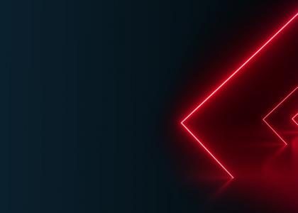 Pink neon squares in the blackness - MHR summit header image